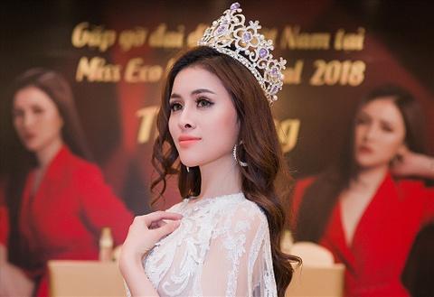 Thu Dung bi tuoc danh hieu A hau Miss Eco International? hinh anh