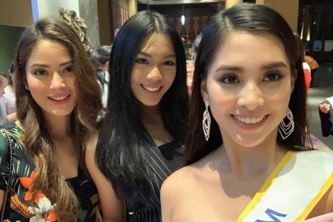 Tieu Vy va cac nguoi dep Miss World rang ro tai Trung Quoc hinh anh