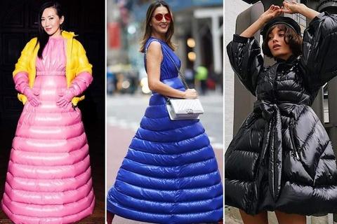 Váy lấy cảm hứng từ áo phao: Giải pháp cho mùa đông lạnh buốt?