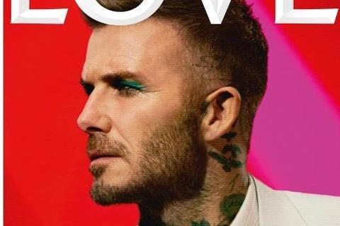 David Beckham gay xon xao voi anh trang diem phan mat mau xanh hinh anh