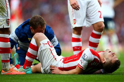 Arsenal dinh bao chan thuong sau tran derby thanh London hinh anh