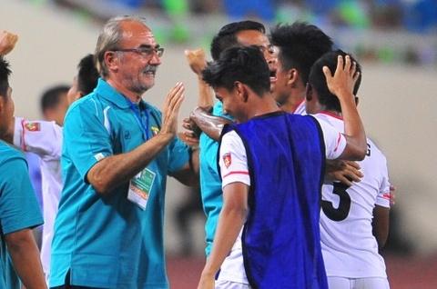 U19 Myanmar thua U19 Qatar 2-3 o ban ket giai U19 chau A hinh anh