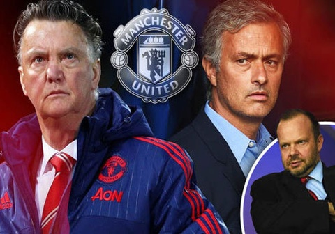 jose mourinho co the thay the van gaal hinh anh