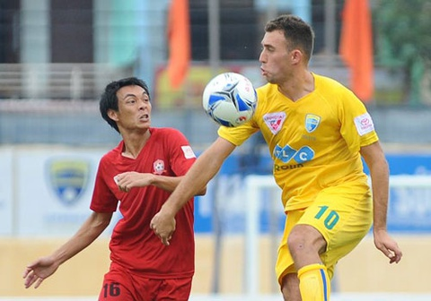 Thanh Hoa vs Hai Phong (0-1): Vo dich luot di truoc 2 vong hinh anh