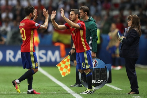 Cham diem Tay Ban Nha: Morata mang hinh bong Torres hinh anh 13