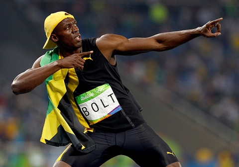 usain bolt thi chung ket 100 m olympic 2016 hinh anh