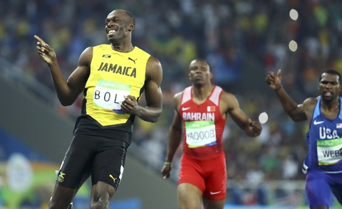 'Tia chop' Bolt tiep tuc cuoi doi thu khi ve nhat o Olympic hinh anh 5