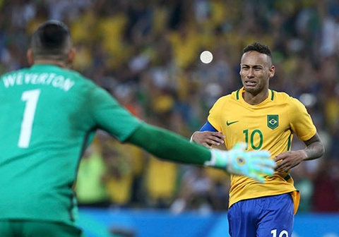 neymar khoc khi giup brazil gianh hcv olympic 2016 hinh anh