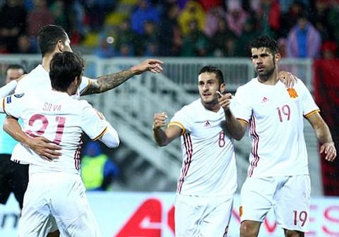 Highlights Albania 0-2 Tay Ban Nha hinh anh