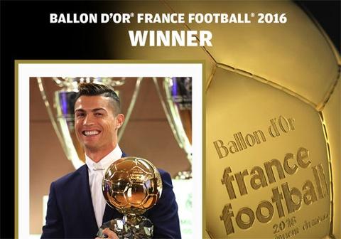 Cristiano Ronaldo gianh Qua bong vang 2016 hinh anh
