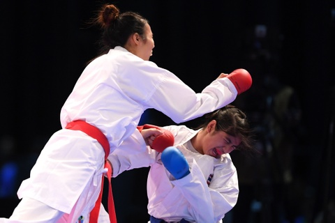 Thang ap dao doi thu Thai Lan, karate VN gianh 2 HCV hinh anh 2