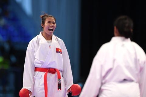 Thang ap dao doi thu Thai Lan, karate VN gianh 2 HCV hinh anh 5
