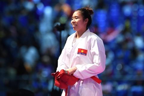 Thang ap dao doi thu Thai Lan, karate VN gianh 2 HCV hinh anh 6