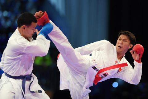 Thang ap dao doi thu Thai Lan, karate VN gianh 2 HCV hinh anh 9