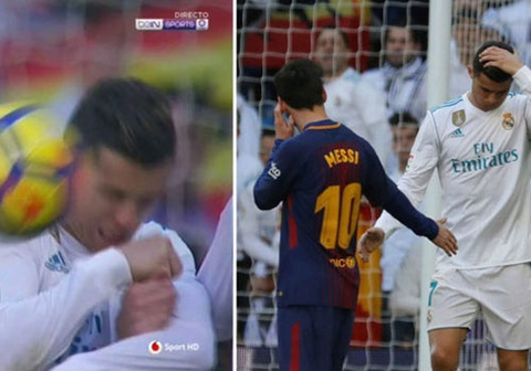 Messi hanh dong dep khi sut trung mat Ronaldo hinh anh