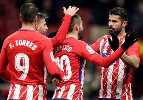 Diego Costa kien tao, Atletico thang 3-0 o cup nha vua Tay Ban Nha hinh anh