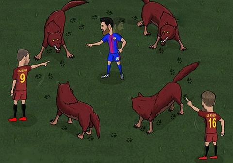 Hi hoa Messi khong the thoat khoi vong vay cua 'bay soi' hinh anh