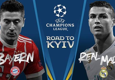 Bayern gap Real, Liverpool doi dau AS Roma o ban ket Champions League hinh anh