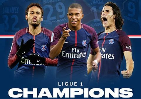 Huy diet Monaco 7-1, PSG vo dich Ligue 1 truoc 5 vong dau hinh anh