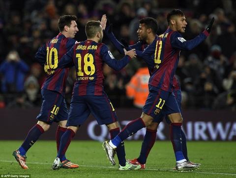 Messi va Neymar giup Barca thang nguoc Villarreal 3-2 hinh anh