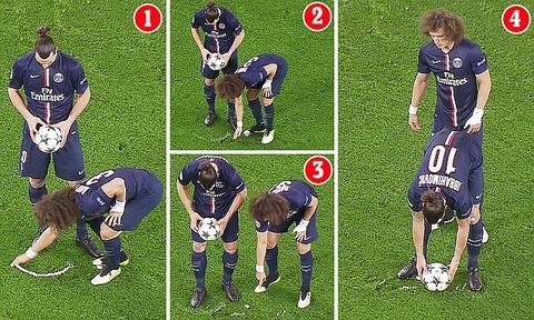 David Luiz thang tay xoa danh dau cua trong tai hinh anh