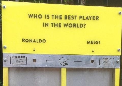 Dung ten Ronaldo va Messi nham giam rac thai tren pho hinh anh