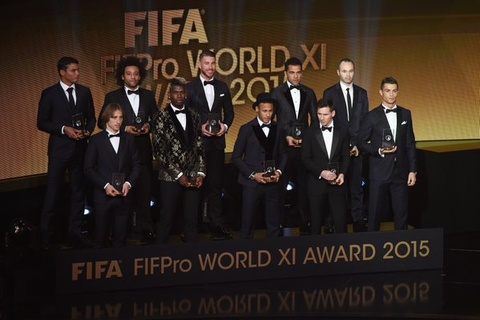 Barca va Real thong linh doi hinh tieu bieu FIFA 2015 hinh anh