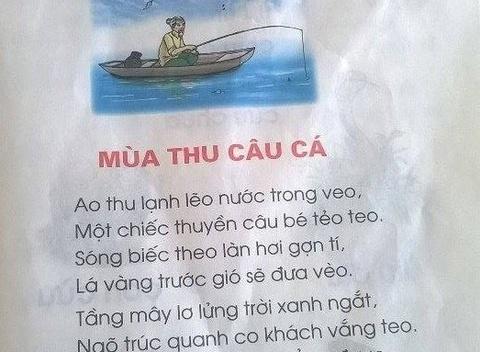 Bai tho trong sach Tieng Viet lop 1 gay nhieu tranh cai hinh anh