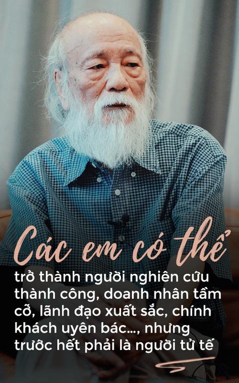 PGS Van Nhu Cuong va quan diem giao duc lam nguoi tu te hinh anh 1
