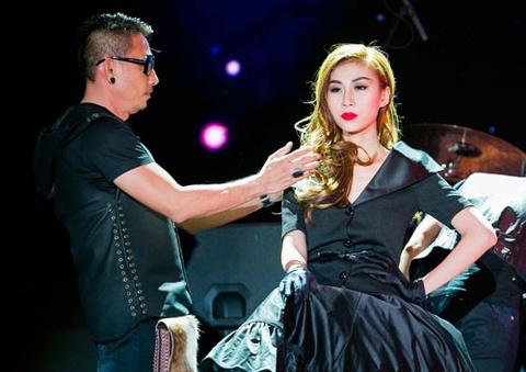 'Nguoi mau chuyen gioi' Lan Phuong lan dau lam vedette hinh anh