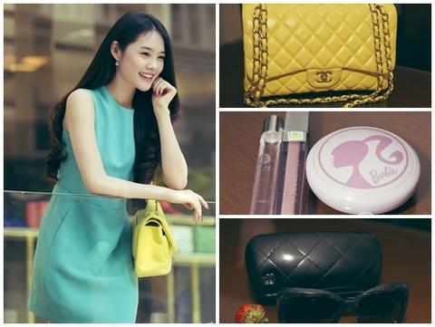 Linh Chi xuong pho voi tui Chanel 100 trieu Khac Tiep tang hinh anh