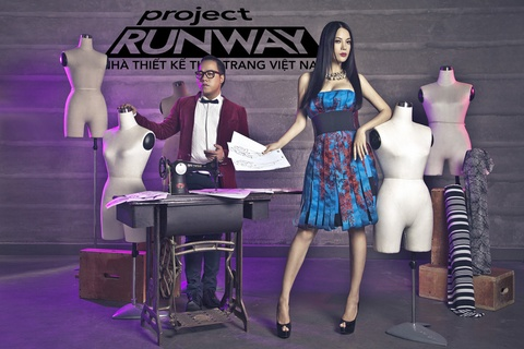 Truong Ngoc Anh, Tung Leo an tuong voi poster Project Runway hinh anh