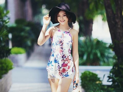 Lan Phuong dien mot hai day mat me xuong pho hinh anh