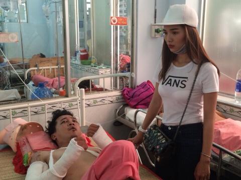 Dien vien bi tai nan trong phim cua Ung Hoang Phuc qua doi hinh anh
