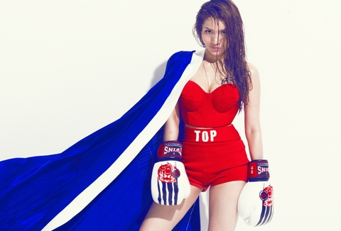Thuy Top de toc uot lam boxing girl hinh anh