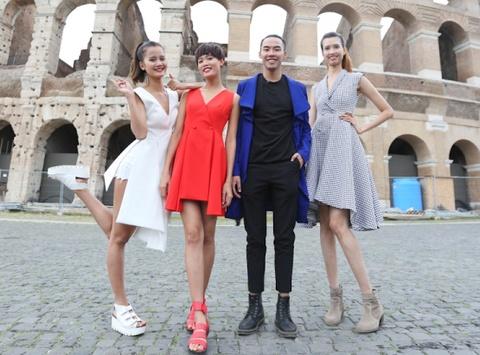 Top 4 Next Top Model sanh dieu tren duong pho Italy hinh anh