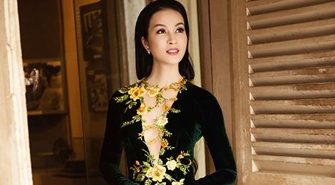MC Thanh Mai gioi thieu 6 mau ao dai ket hoa xuan hinh anh