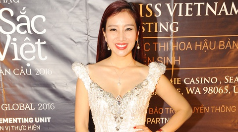 Thu Huong sang My casting thi sinh Hoa hau Ban sac Viet hinh anh