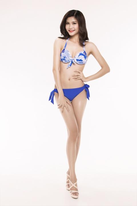 Nguoi dep Hoa hau Viet Nam 2016 tao dang voi bikini hinh anh 1