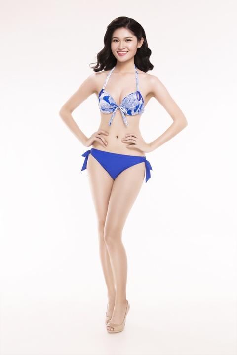 Nguoi dep Hoa hau Viet Nam 2016 tao dang voi bikini hinh anh 2