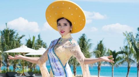 Nguoi dep HH Ban sac Viet dien ao dai duyen dang hinh anh