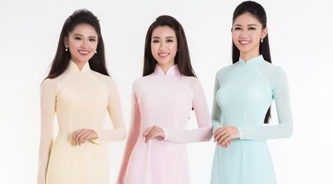Top 3 Hoa hau Viet Nam 2016 duyen dang ao dai pastel hinh anh