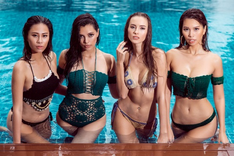 Ha Anh va Hoa hau, A hau Toan cau chup anh bikini o Da Nang hinh anh 1
