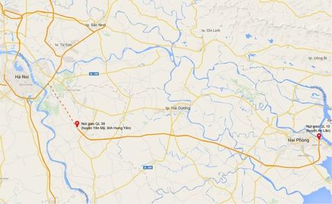 Toan canh cao toc hien dai nhat Viet Nam hinh anh 19 Bản đồ toàn tuyến cao tốc. Điểm đầu dự kiến hoàn thành vào cuối năm 2015.