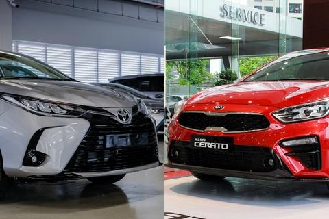 Toyota Vios G doi dau Kia Cerato Luxury trong tam gia 600 trieu dong hinh anh