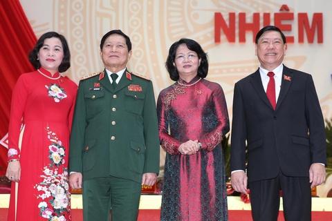 Pho chu tich nuoc, Bo truong Quoc phong du Dai hoi Dang bo Vinh Long hinh anh