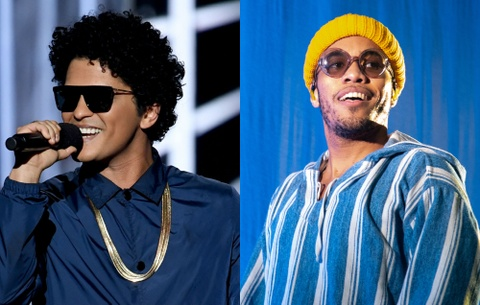 Bruno Mars lap ban nhac voi rapper Anderson .Paak hinh anh