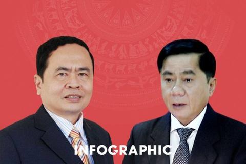 Chan dung 2 tan Bi thu Trung uong Dang hinh anh