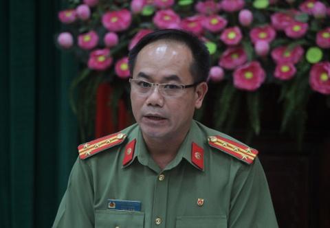 Cong an Ha Noi thong tin vu nguoi dan ong tu thieu gan tru so tiep dan hinh anh