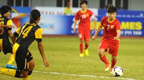 Thang Malaysia 4-0, tuyen nu Viet Nam vao chung ket hinh anh